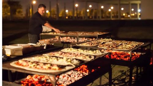 pizzas a la parrilla, catering,hamburguesas caseras promo!!