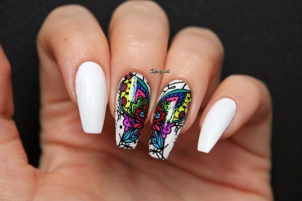 Placa De Stamping Nail Art Uñas Decoradas Con Mariposas 15000