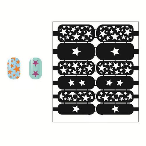 placa de sticker stencil para diseño decoracion de uñas
