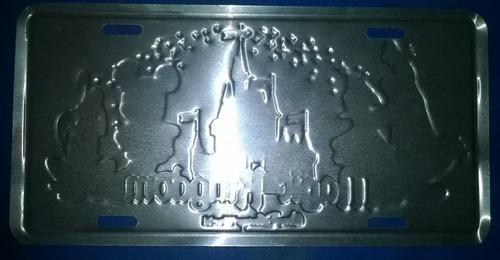placa forma de matrìcula - motivo infantiles de  disney