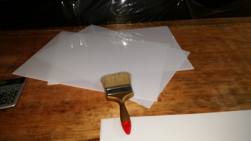 placa plastica back light simil acrilico pack de10 unidades