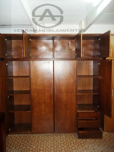placard de madera - ropero de madera- dormitorio- 22o largo