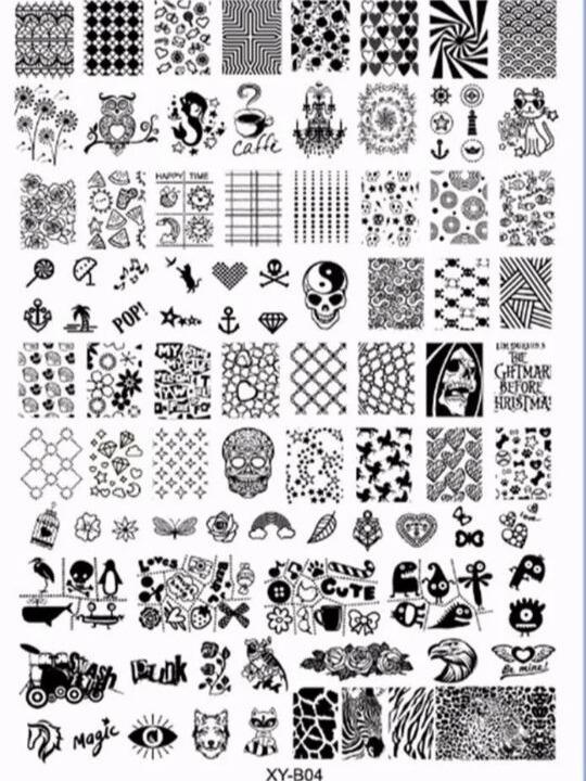 Placas De Stamping Mas De 100 Diseños Por Placa Uñas