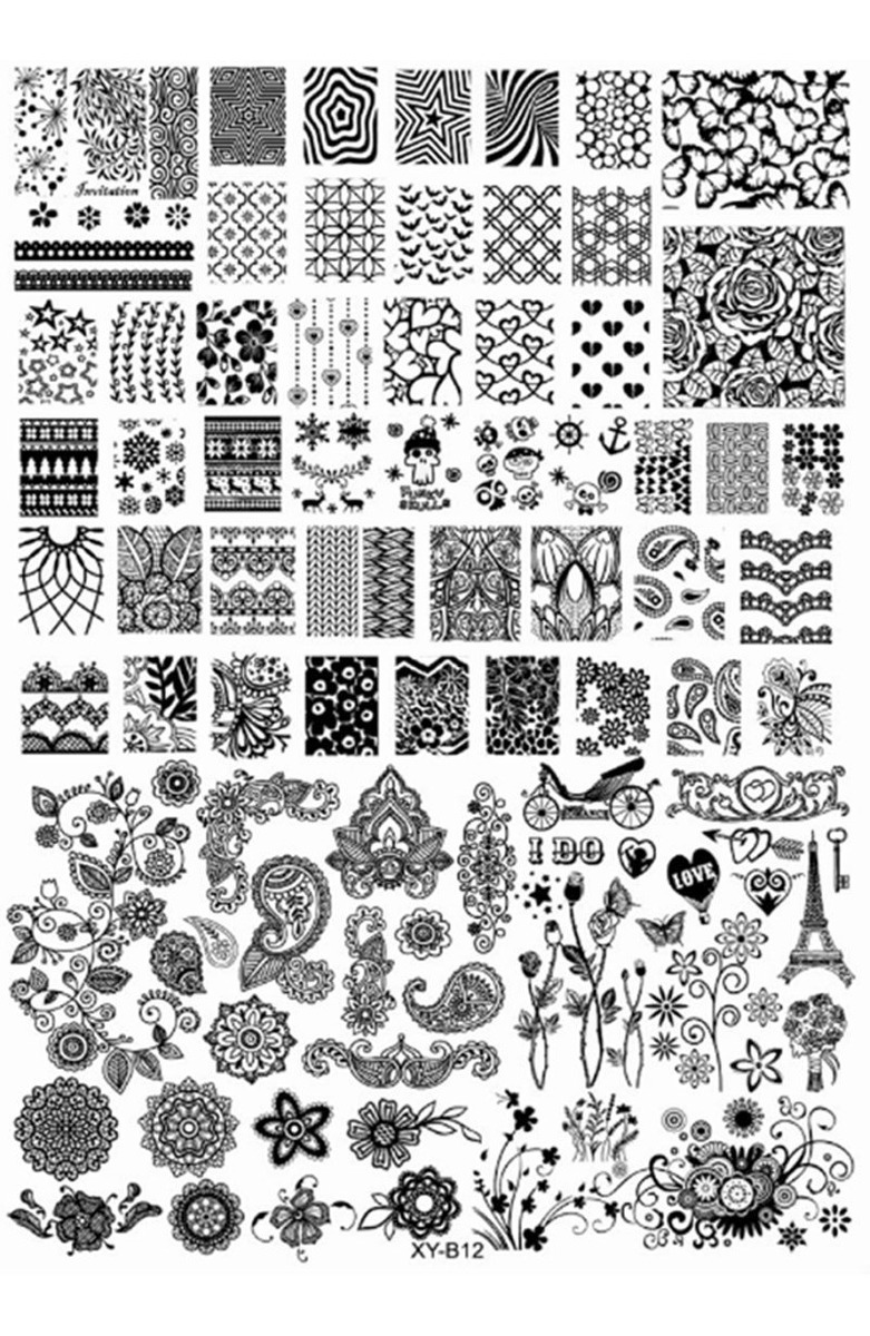 Placas De Stamping Uñas Nail Art Decoracion De Uñas