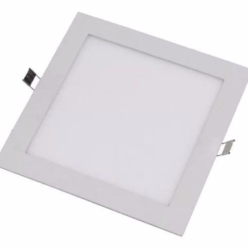 plafon panel aplique led para embutir 24w cuadrado neutro