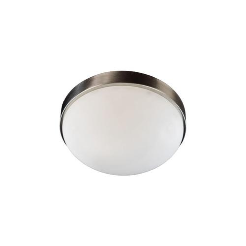 plafón redondo de interior color blanco, vidrio curvo. ø280m