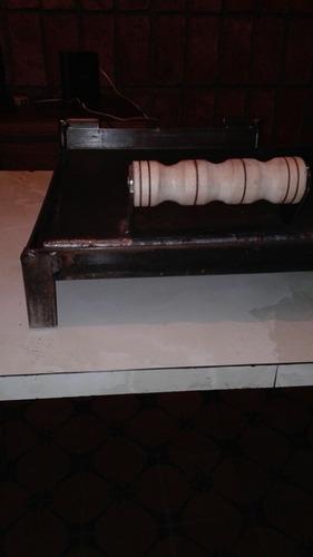 plancha chivitera con prensa de 70x40