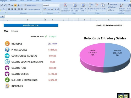 planilla excel para control de ingresos y gastos