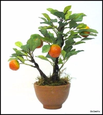 planta artificial decorativa - naranjo