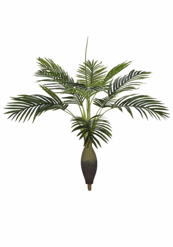 planta artificial - palmeira garrafa real toque 120 cm