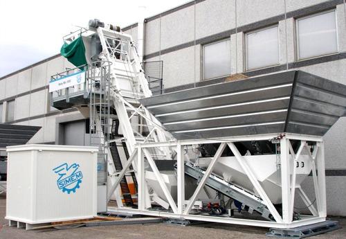 planta de hormigón simem moby mix, de 15 a 50 m3/h, italiana