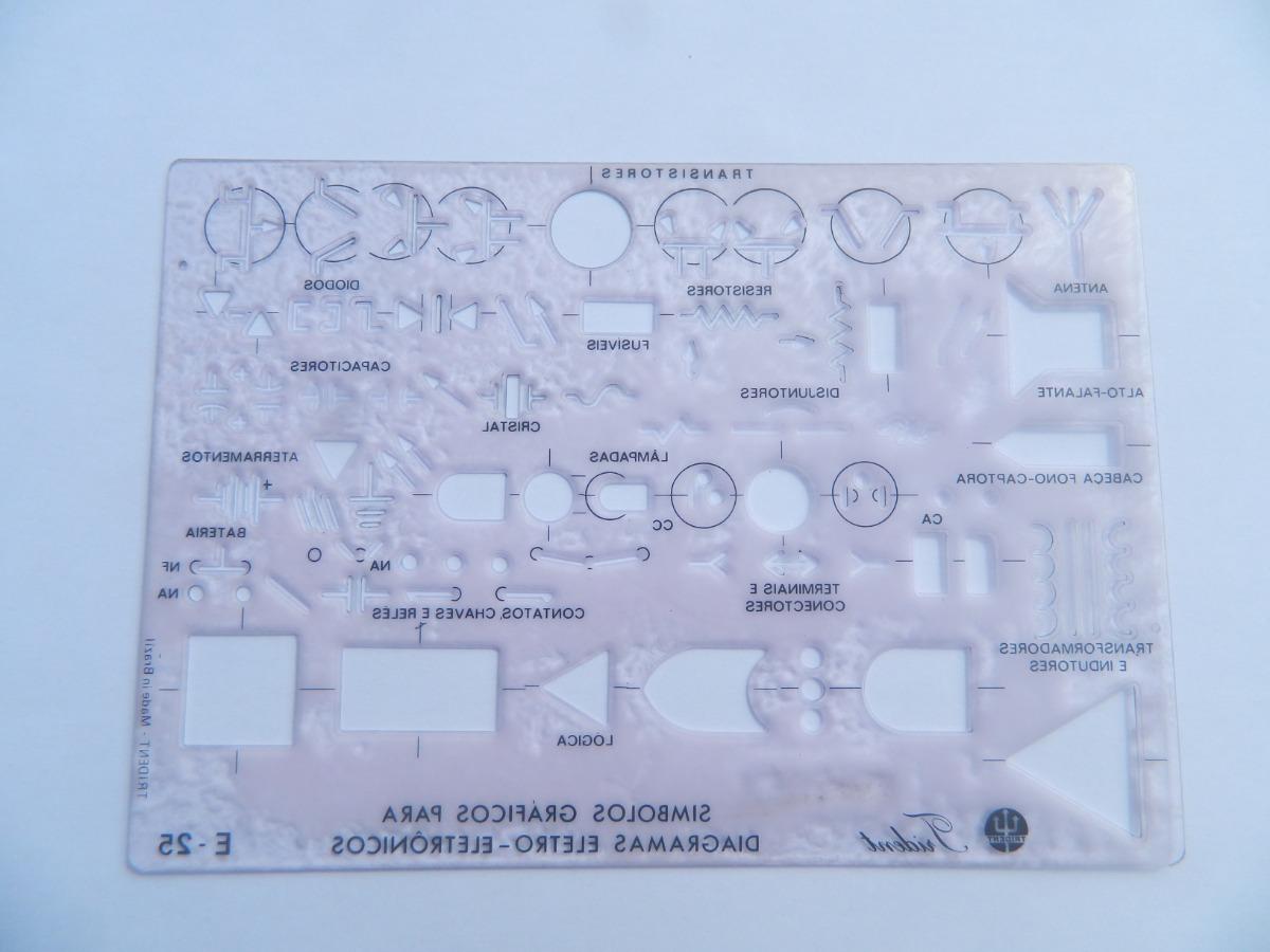 Plantilla Diagrama Símbolos Gráficos Trident E25 (brasil) - $ 850,00 ...