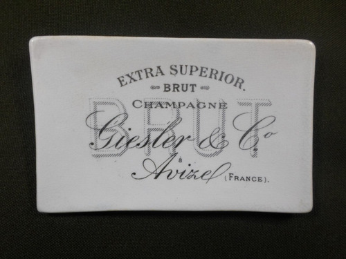 plaqueta champagne loza francesa ( b1802)