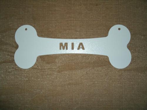 plaquinha formato de osso para pet cão gato casinha e parede