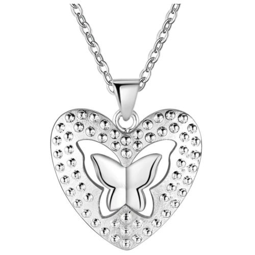 dde2b7f21a37 Plata De Ley 925 Collar Mariposa Colgante Para Mujer Joyas R