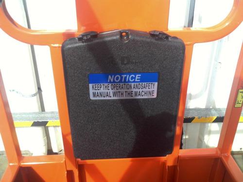 plataforma andamio semi-electrico dingli 7,80m autoelevador