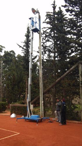 plataforma elevadora aluminio 8/10m espacios reducidos