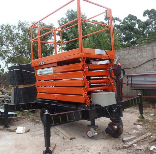 plataforma tijera para trabajo en altura, alquiler y venta
