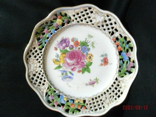 plato de porcelana dresden