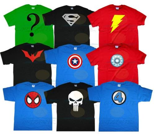 playeras de super heroes regalo para el dia del niño