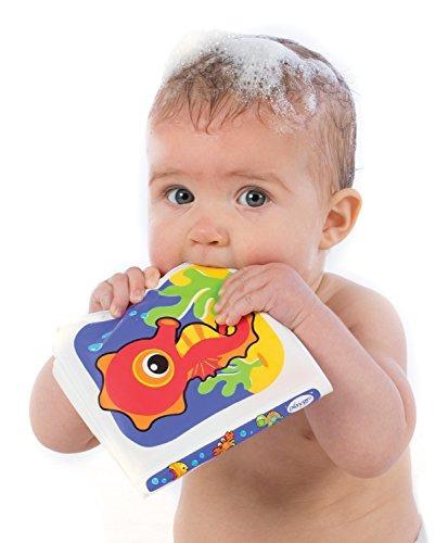 playgro 0170212 splash baby bath book, 0-24 meses