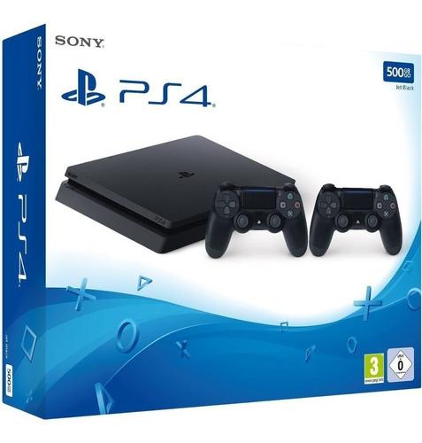 playstation 4 con 2 controles + 100 free games + garantia