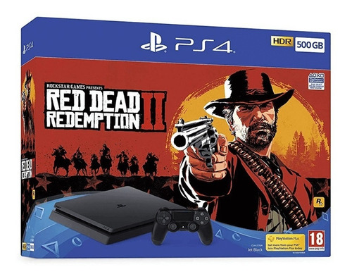 playstation 4 slim - 500gb + read dead redemption nueva