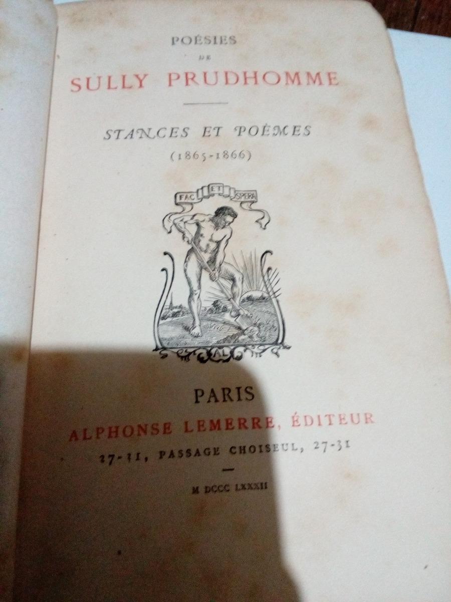 Poesies De Sully Prudhomme Año 1865 Paris