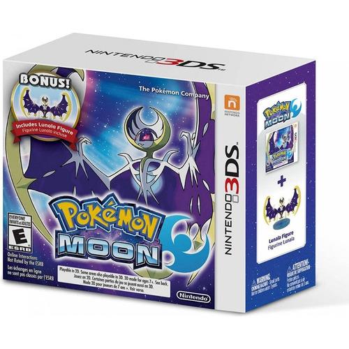 pokemon moon + bonus lunala figure 3ds novo lacrado