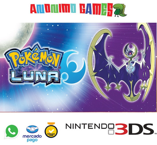 pokemon moon código original nintendo 3ds