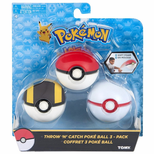 pokemon original pack 3 pokebolas soft