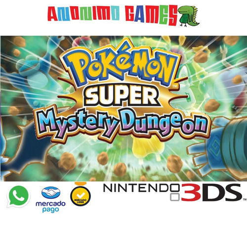 pokemon super mystery dungeon código original nintendo 3ds