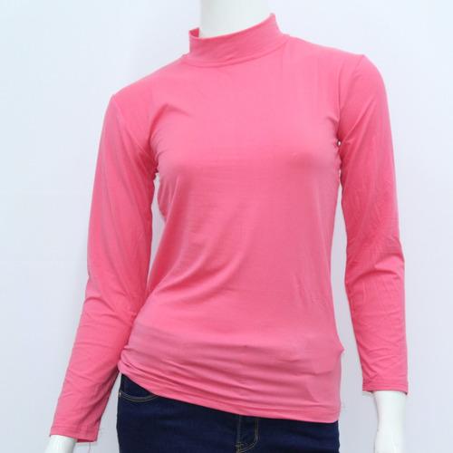 polera dama con felpa rosada lisa - todo útil
