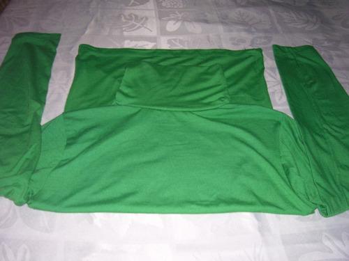 polera dama en algodón,verde, talle m, nueva!!! $170
