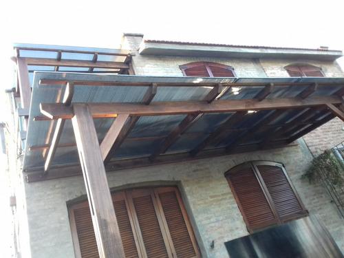 policarbonatos pergolas decks techos madera metal
