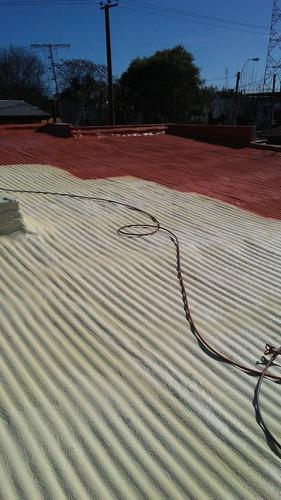 poliuretano expandido aislación térmica e impermeable