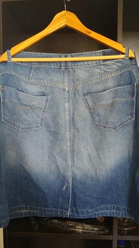 pollera de jean.