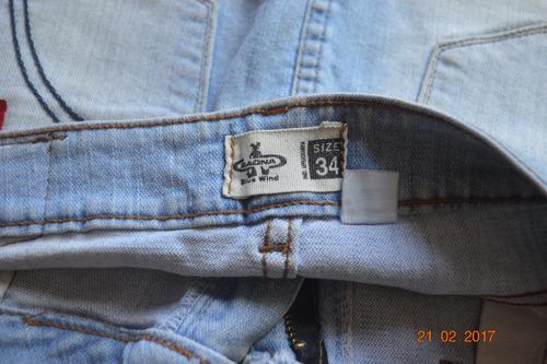 pollera de jean marca saona