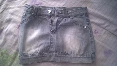pollera de jeans y de tela