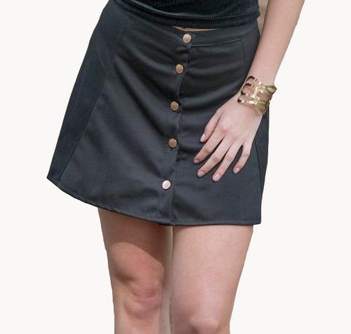 pollera falda corta con botones. confección uruguaya