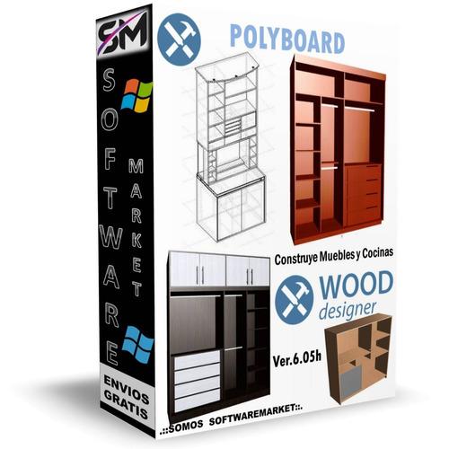 polyboard 6.07 pro 2018 + opticut + optinest diseño muebles