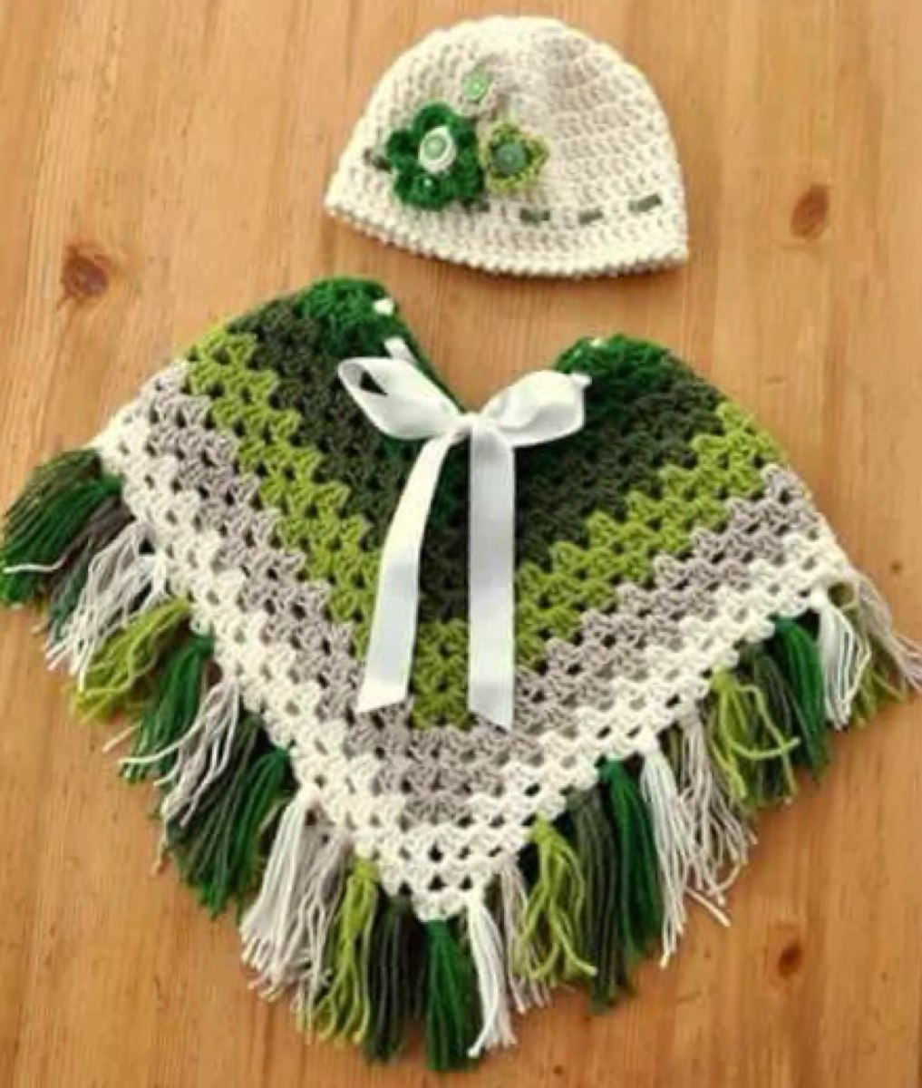 Poncho Crochet Niñas 80000 En Mercado Libre