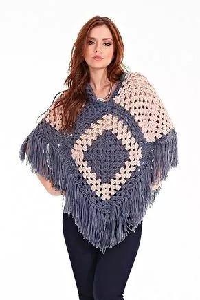 ponchos tejidos a crochet