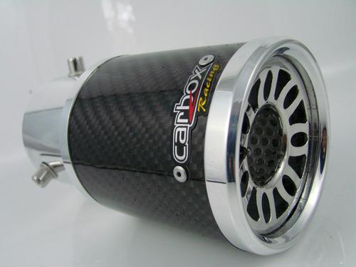ponteira turbo fibra de carbono carbox racing