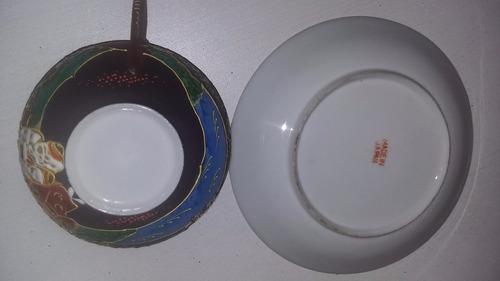 porcelana china taza de te con plato sana