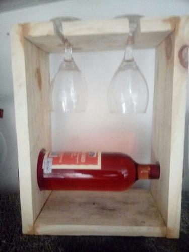 porta botella con copas