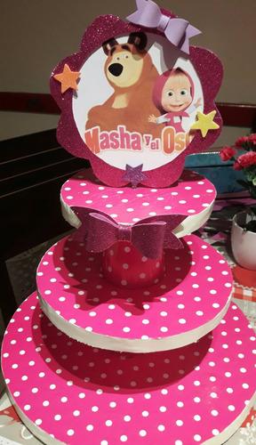 porta cupcakes o muffing masha y el oso