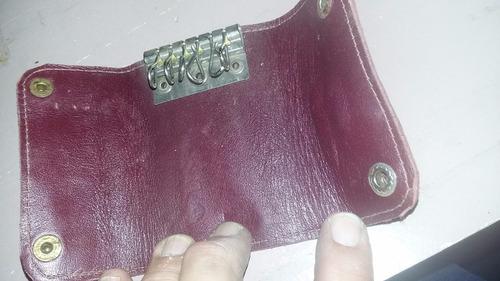 porta llaves llavero de piel de lagarto