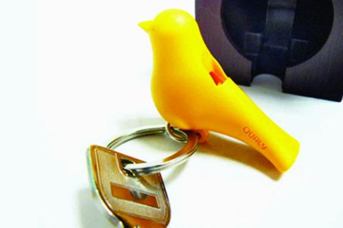 porta llaves silbato | supercute | pajarito | vinilo design