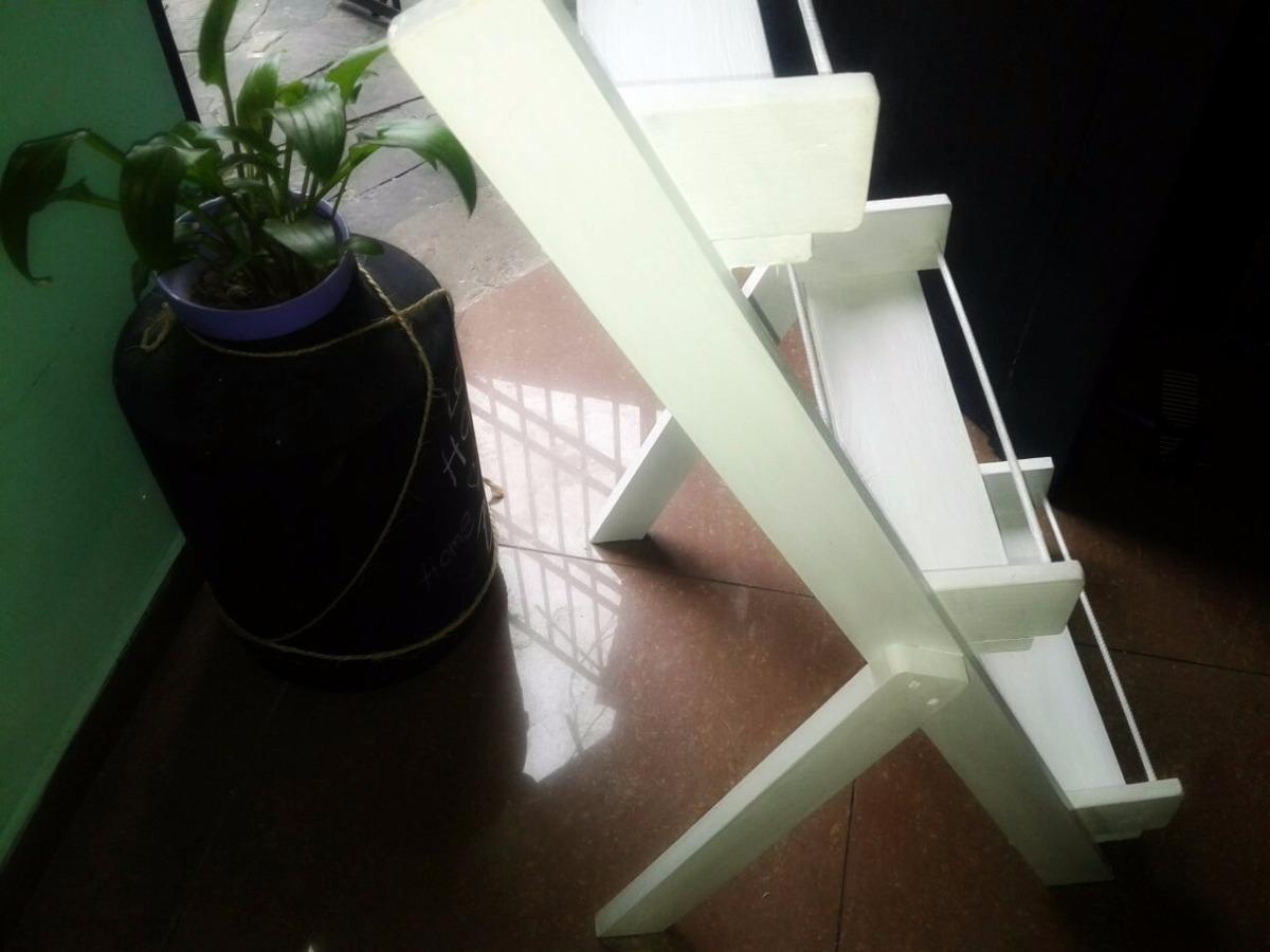 Porta macetas de madera color blanco 800 00 en mercado for Porta 800